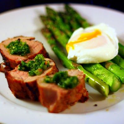 Brined Pork Tenderloin with Salsa Verde! | Yum! | Pinterest