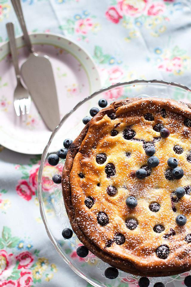 baked blueberry cheesecake | Desserts | Pinterest