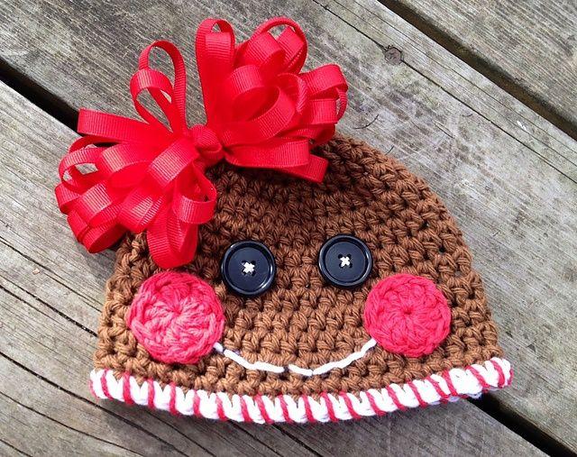 Free Crochet Pattern For Gingerbread Man Hat : Pin by Jordan Culver on Yarn Junkie Pinterest