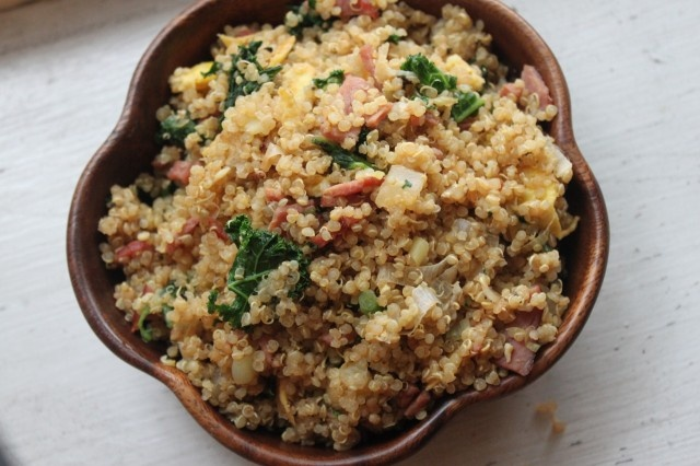 Fried Quinoa with Bacon and Kale | Notes From a Messy Kitchen | Pinte ...