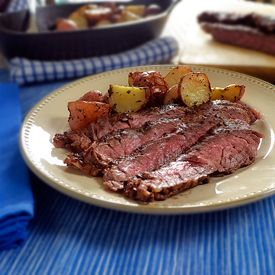 Perfectly grilled skirt steak with a hint smoked cumin.