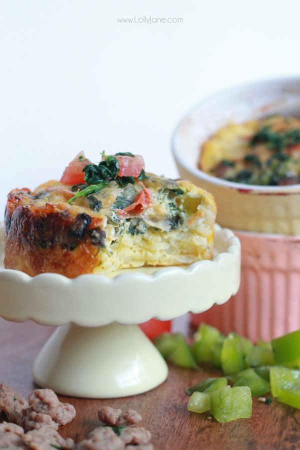 Sausage & Egg Hash Brown Cups. Perfect for breakfast or brunch ...
