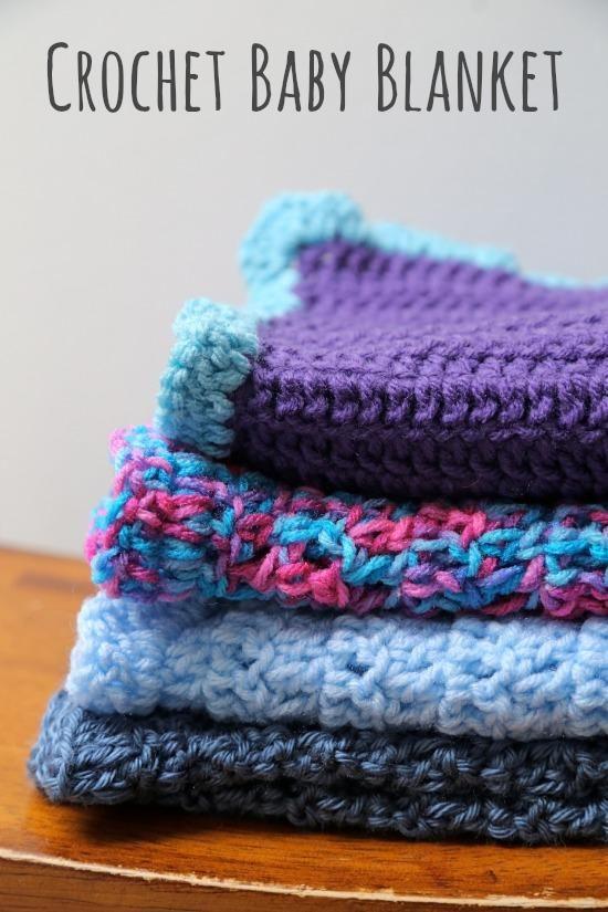 Treble Crochet Baby Blanket Pattern : Crochet-A-Day: Double Crochet Baby Blanket