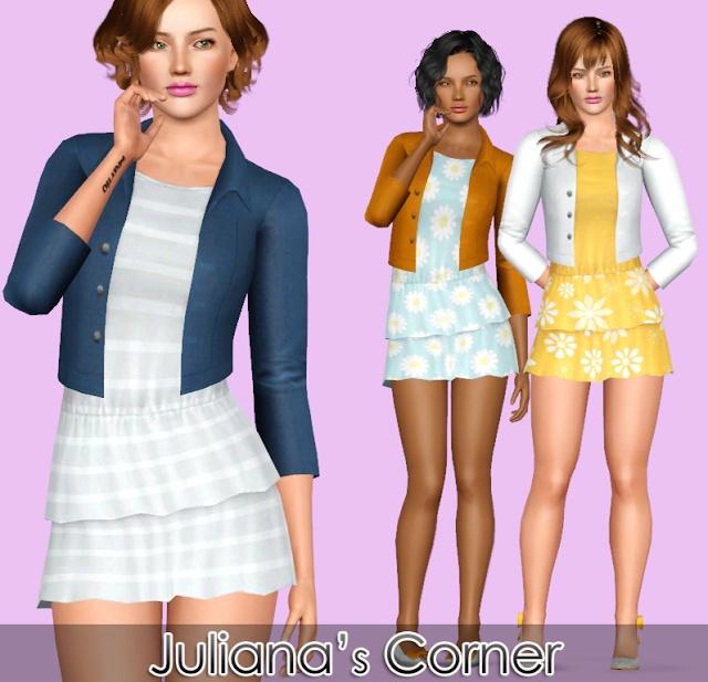 Juliana Sims: Cassie Dress | Sims CC Clothing | Pinterest
