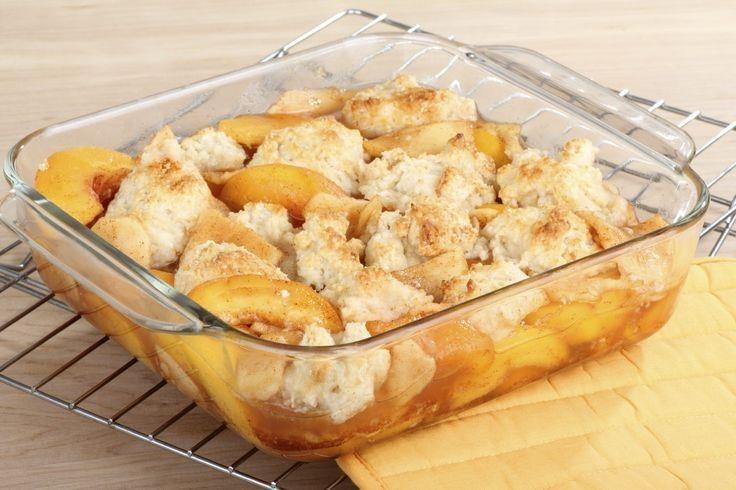 Light Peach Cobbler Recipe | desserts to try | Pinterest