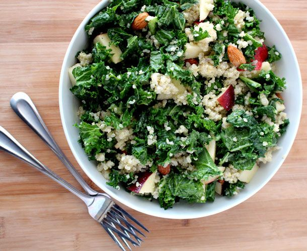 This crisp and refreshing Apple & Quinoa Kale Salad from The Wheatless ...