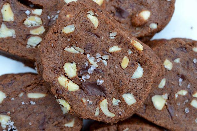 Omnivorous: Chocolate & Salted Almond Shortbread Cookies