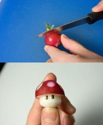 If this would get ANYONE, much less a kid, to eat radishes....