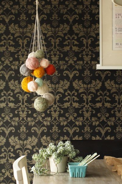 DIY Yarn Chandelier (http://blog.hgtv.com/design/2014/03/04/hanging-around-diy-yarn-chandelier/?soc=pinterest)
