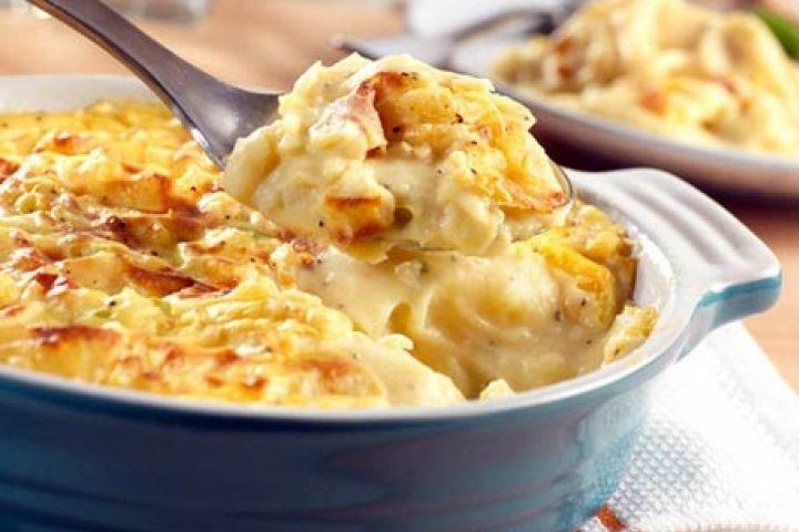 Cheddar and Mashed Potato Gratin Recipe | yumm | Pinterest