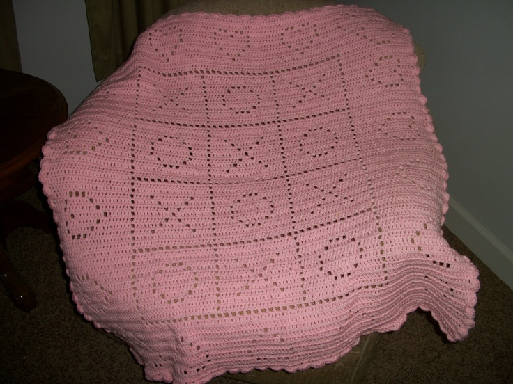 hugs and Kisses baby blanket! Things I have crocheted ...