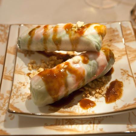Summer Rolls with Marinates Tofu recipe