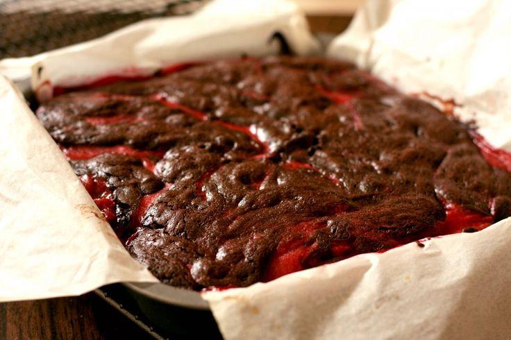 chocolate and raspberry brownies | In Season ~ Raspberries | Pinterest