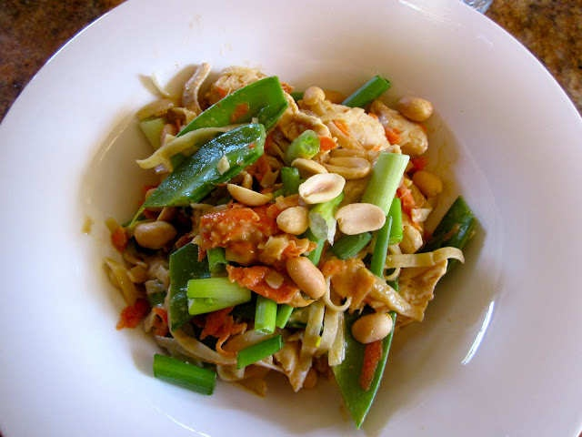 Asian Peanut Noodles With Chicken Lightened Up Recipes — Dishmaps