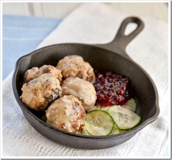 Swedish Meatballs w/ lingonberries and pickles