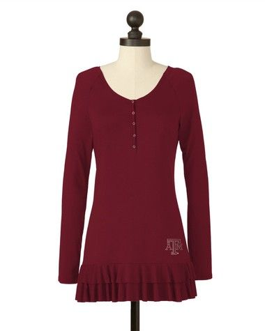 Texas A & M Aggies | Team Double Tiered Tunic | meesh & mia