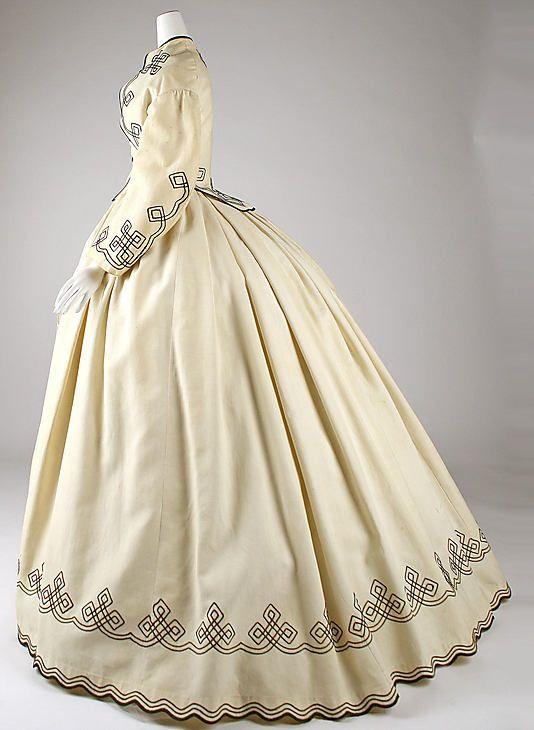 Cotton Dress, 1862-64 american made.