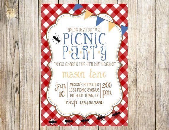 Picnic Party Invitations Templates MEMES
