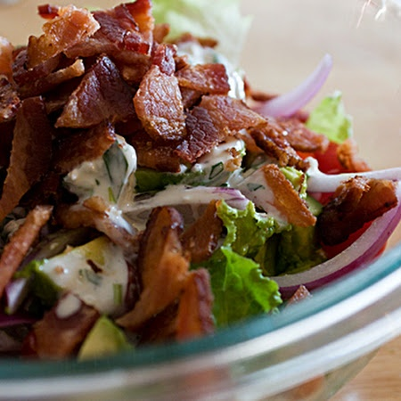 BLT Salad with Avocado and Blue Cheese Dressing Recipe | Key ...