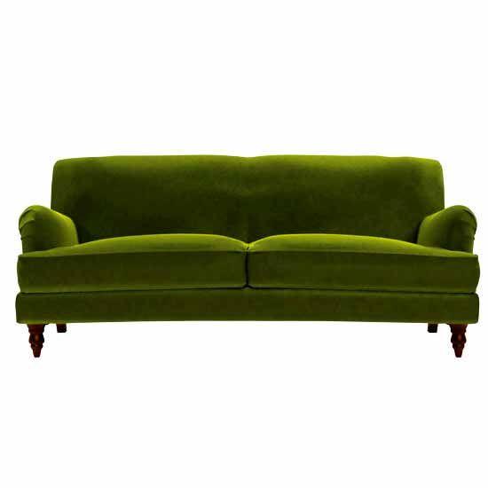 Green velvet Snowdrop sofa.com  eclectic  Pinterest