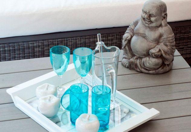 Голубой — это не только спокойствие,  это еще утонченность и легкость. Такие бокалы прекрасно сочетаются с другими элементами декора нейтраль...