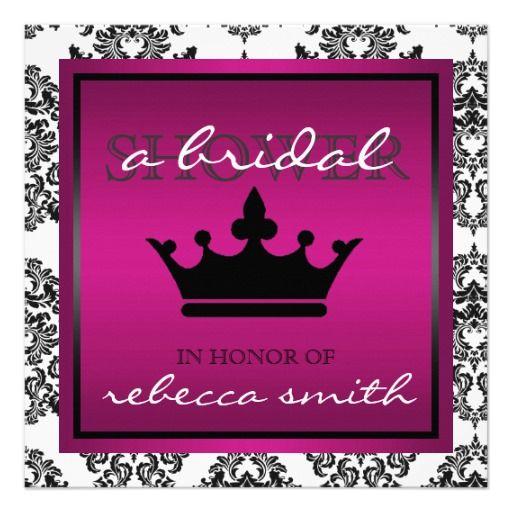 Queen Bridal Shower Invitation