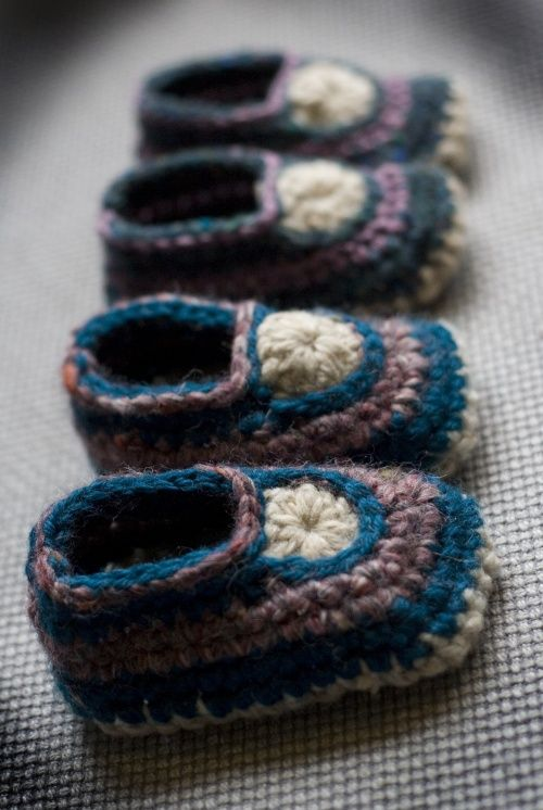 crocheted baby mocs free crochet pattern
