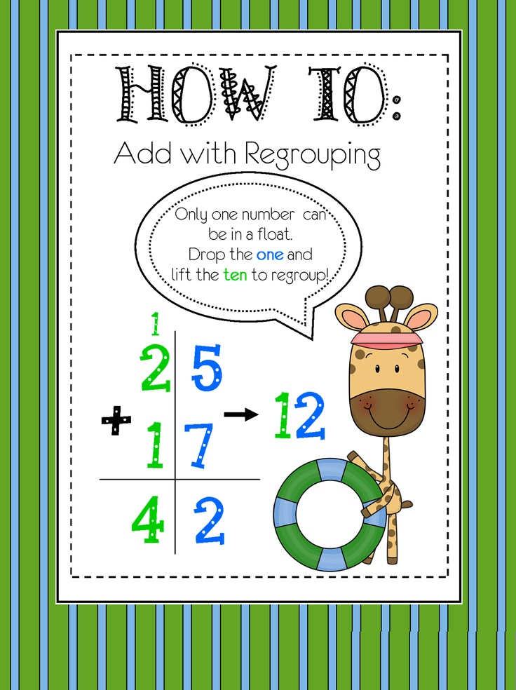 Digit Addition (with Regrouping) | Regrouping | Pinterest