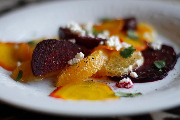 roasted beet, orange, and feta salad. | de-lish! | Pinterest