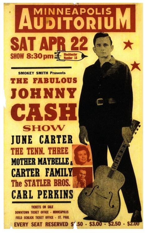 johnny cash gig posters pinterest. Black Bedroom Furniture Sets. Home Design Ideas
