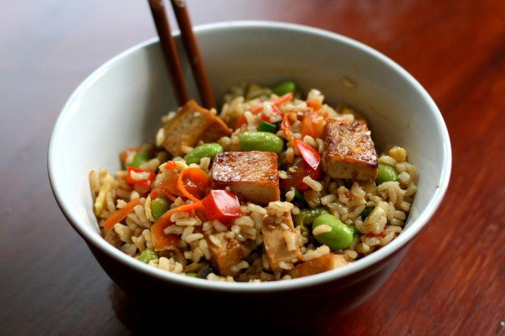 Caramelized Tofu Fried Rice   food   Pinterest