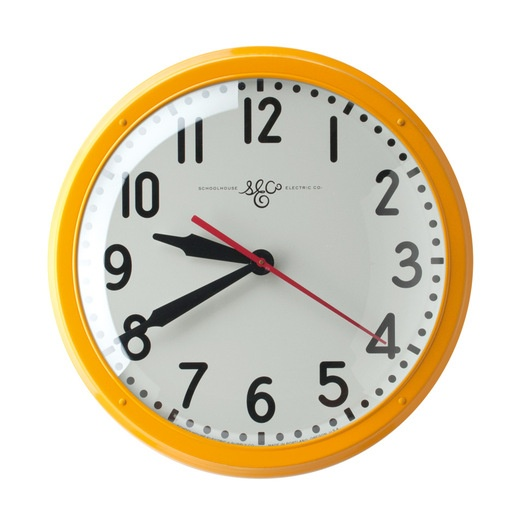Portland's Schoolhouse Electric launched its new housewares and furniture line with crisp, practical beauties like this sharp wall clock. Local designers such as Adam Arnold and Egg Press contributed to the light-fixture brand's major makeover. schoolhouseelectric.com