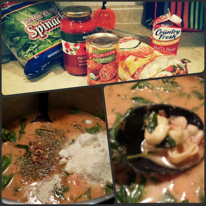 Tomato Tortellini Soup with Spinach and Sausage Sauté 1 lb Italian ...