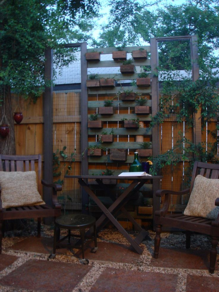 planter privacy screen backyard pinterest