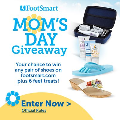 Enter our Mom's Day Giveaway. One lucky mom will win a free pair of shoes + a gift set.
