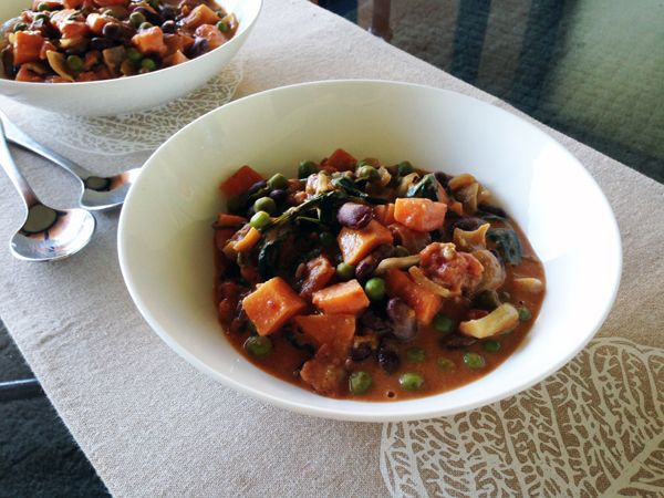 African Peanut Stew with Sweet Potato and Beans - Vegan and Gluten ...