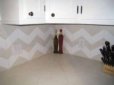 contact paper chevron backsplash home design pinterest