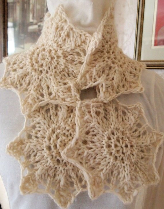 Star Knitting Pattern : Snow Star Scarf Knitting Patterns Pinterest