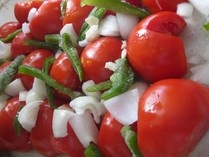 Simple roasted tomato sauce (great way to use extra garden tomatoes)
