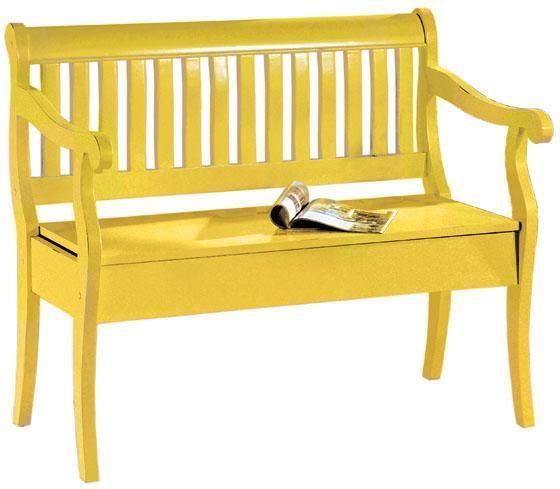 Yellow Bench Home Inspiration Pinterest
