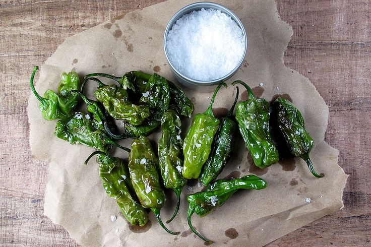 Blistered Pimientos de Padron Recipe. It's that time of year again ...