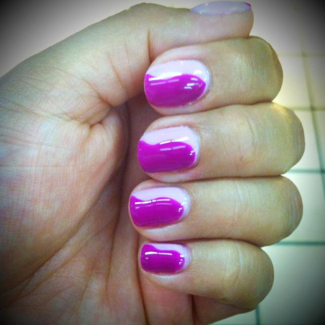 Gel manicure. Good alternative to long acrylics..