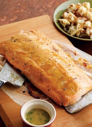 Roasted Salmon with Sweet-n-Hot Mustard Glaze A sweet and spicy twist ...