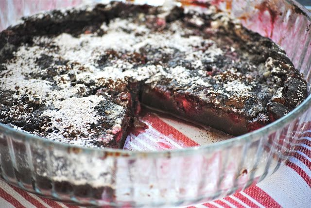 Bakeaway with Me--Chocolate Raspberry Clafouti