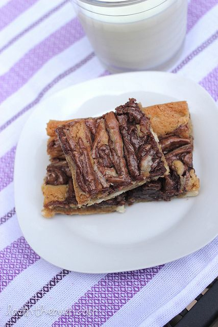 ... , via Flickr ... delicious cream cheese and nutella blondies