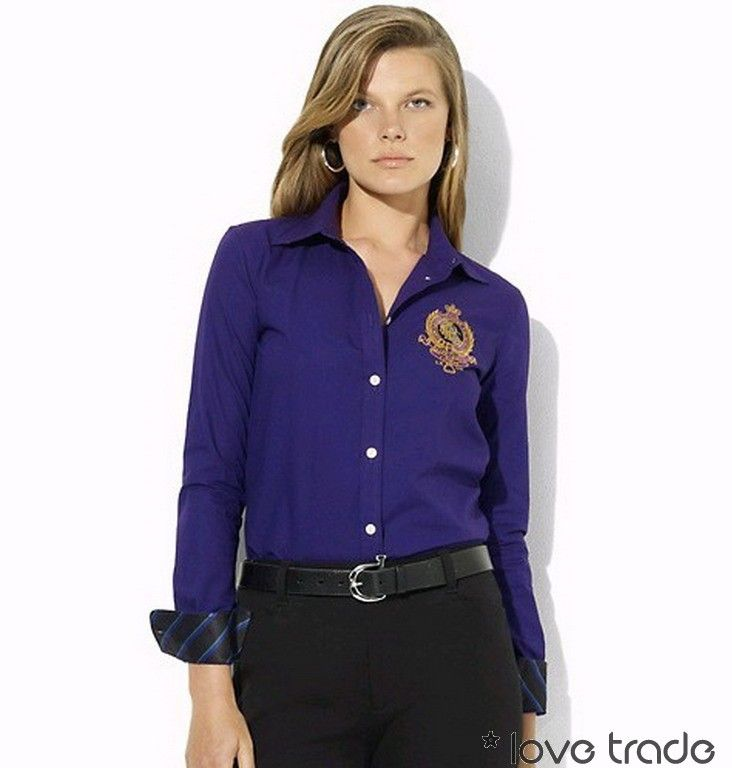 Beautiful Polo Ralph Lauren Dress Shirt Women  EBay