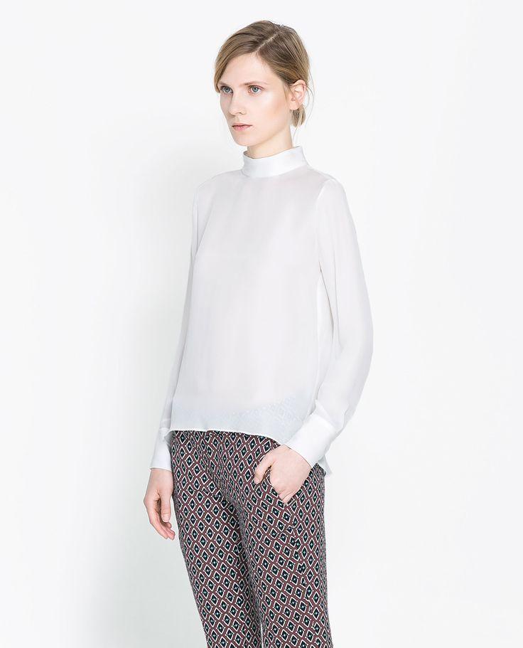 Zara High Neck Blouse 86