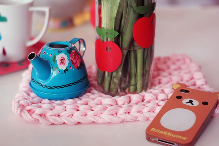DIY tuto Dessous de plat fil zpagetti crochet