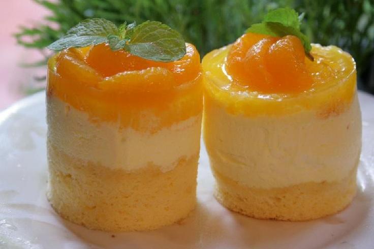 orange mousse cake | Desserts | Pinterest