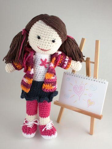 Back to School Lily Doll | Yarn | Free Knitting Patterns | Crochet Patterns | Yarnspirations